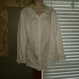Lane Bryant women's white dress blouse